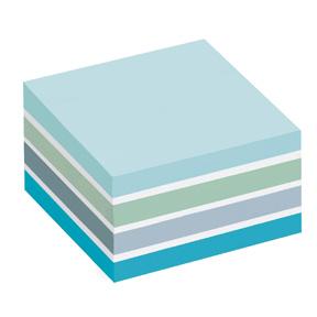 Post-it Klistrelapper 76x76 kubeblokk pastellblå