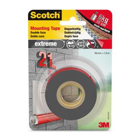Scotch Dobbelsidig Monteringsteip Extreme 19mmx1,5m