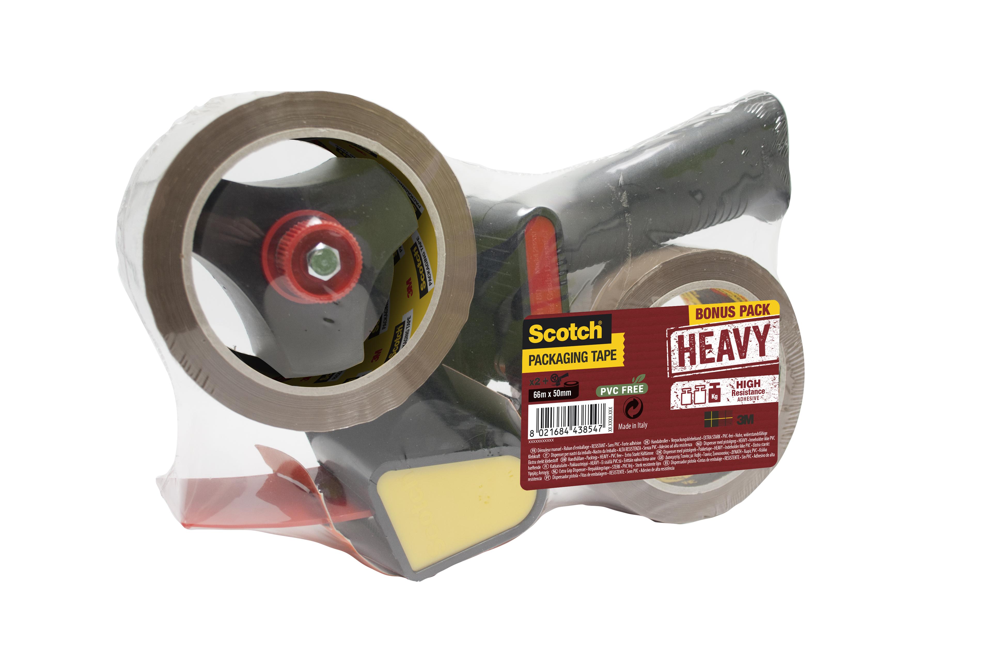 Pakketeip dispenser + to ruller Heavy