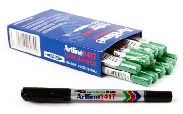 Artline 041T Merkepenn 2-i-1 grønn