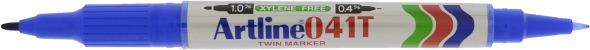 Artline 041T Merkepenn 2-i-1 blå