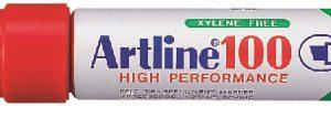 Artline 100 Permanent Merkepenn 12.0 rød