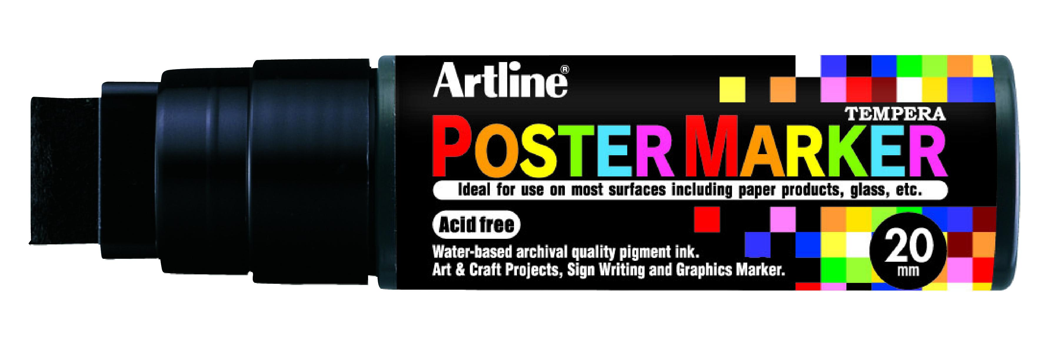 Artline EPP-20 PosterMarker 20mm merkepenn Sort