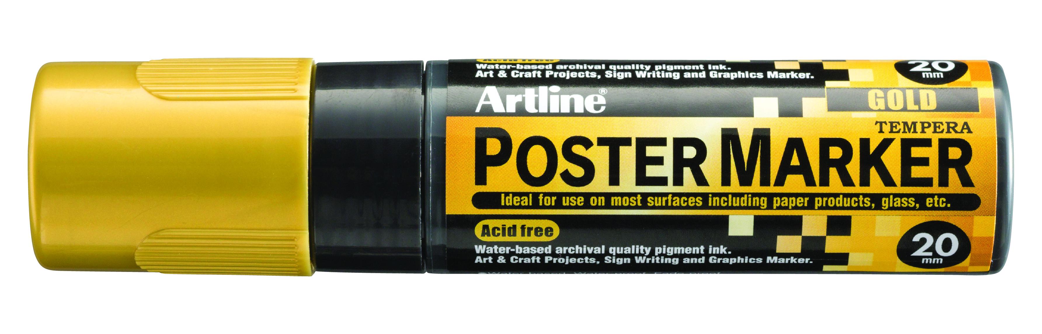 Artline EPP-20 PosterMarker 20mm merkepenn Gull