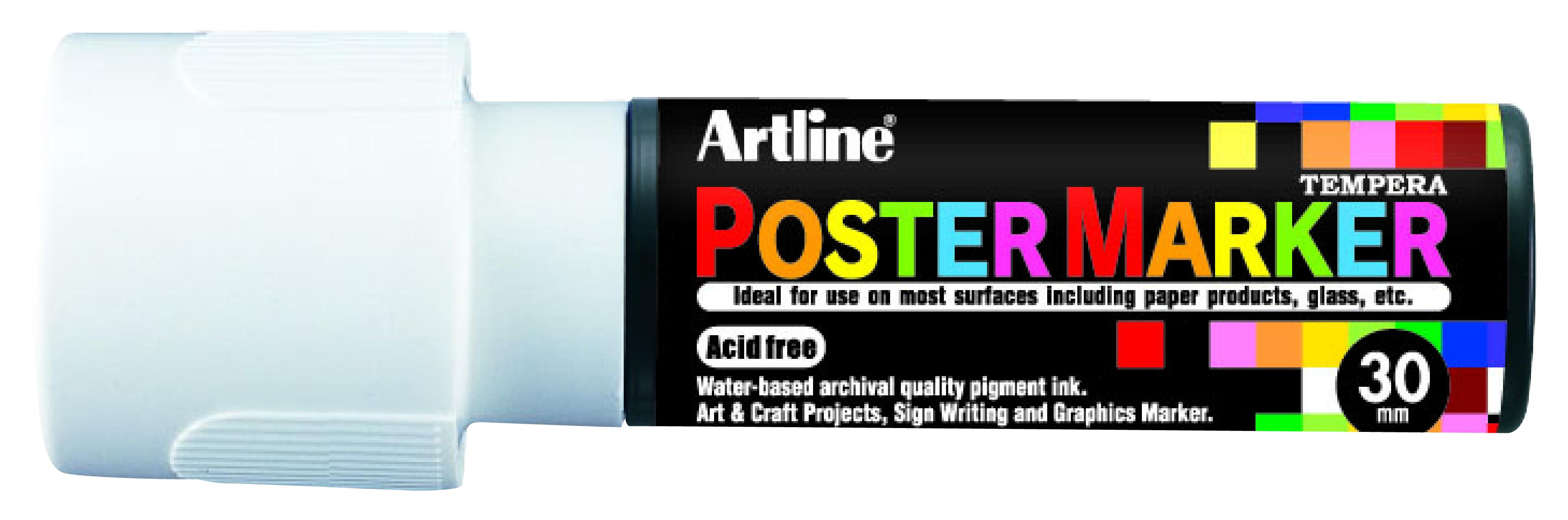 Artline EPP-30 PosterMarker 30mm merkepenn Hvit
