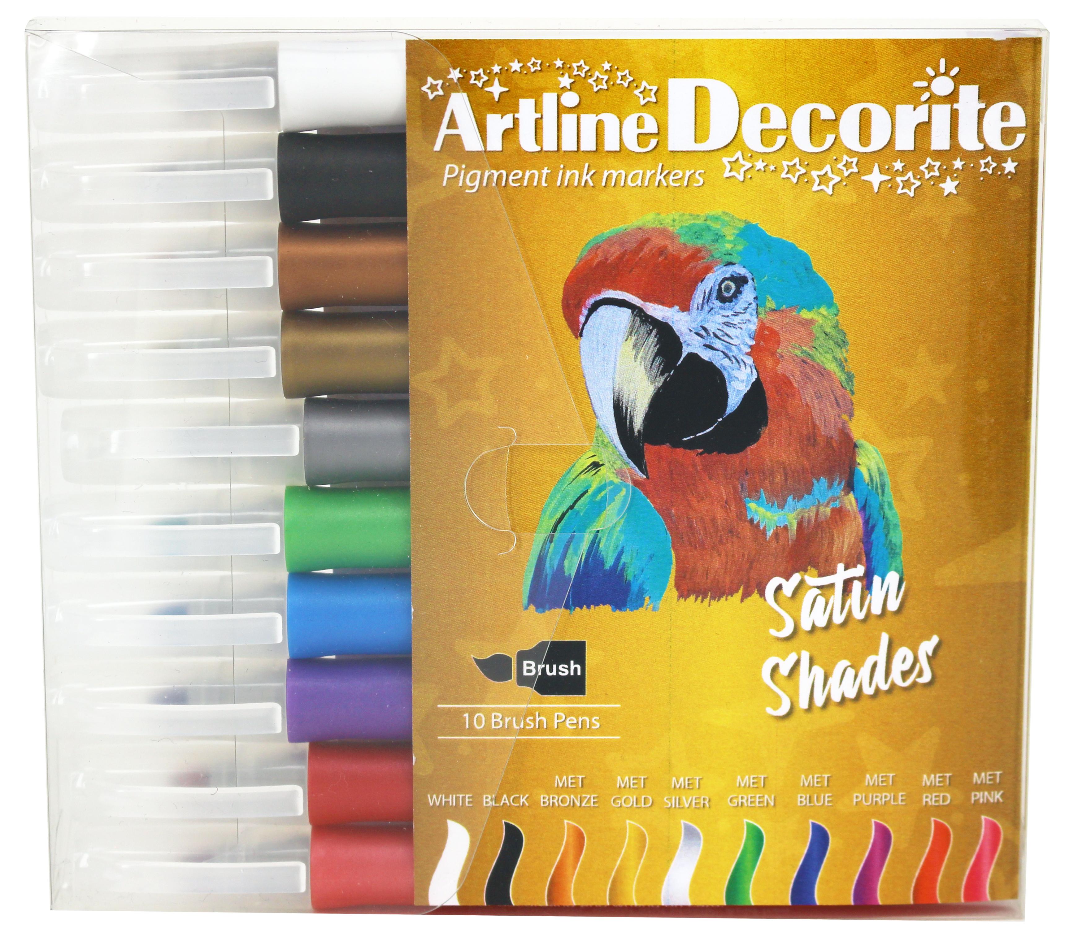 Artline Decorite Brush Metallic 10-pk