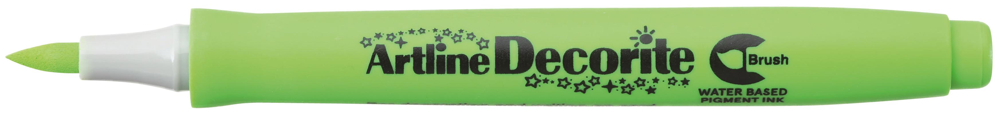 Artline Decorite Brush Gul Grønn