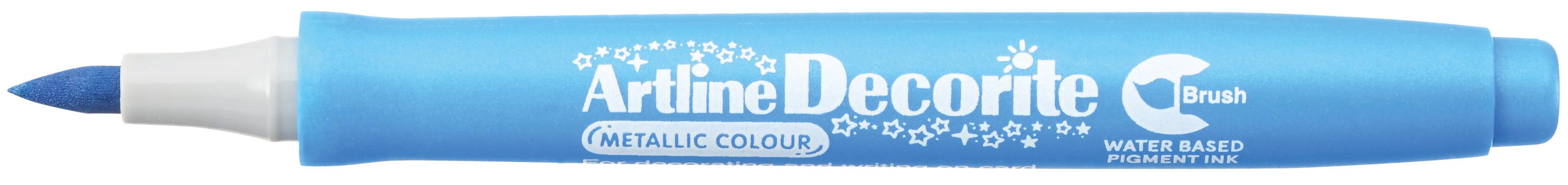 Artline Decorite Brush Metallic Blå