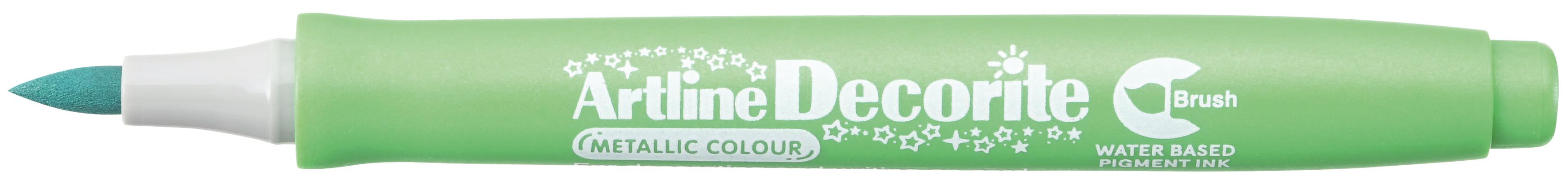 Artline Decorite Brush Metallic Grønn