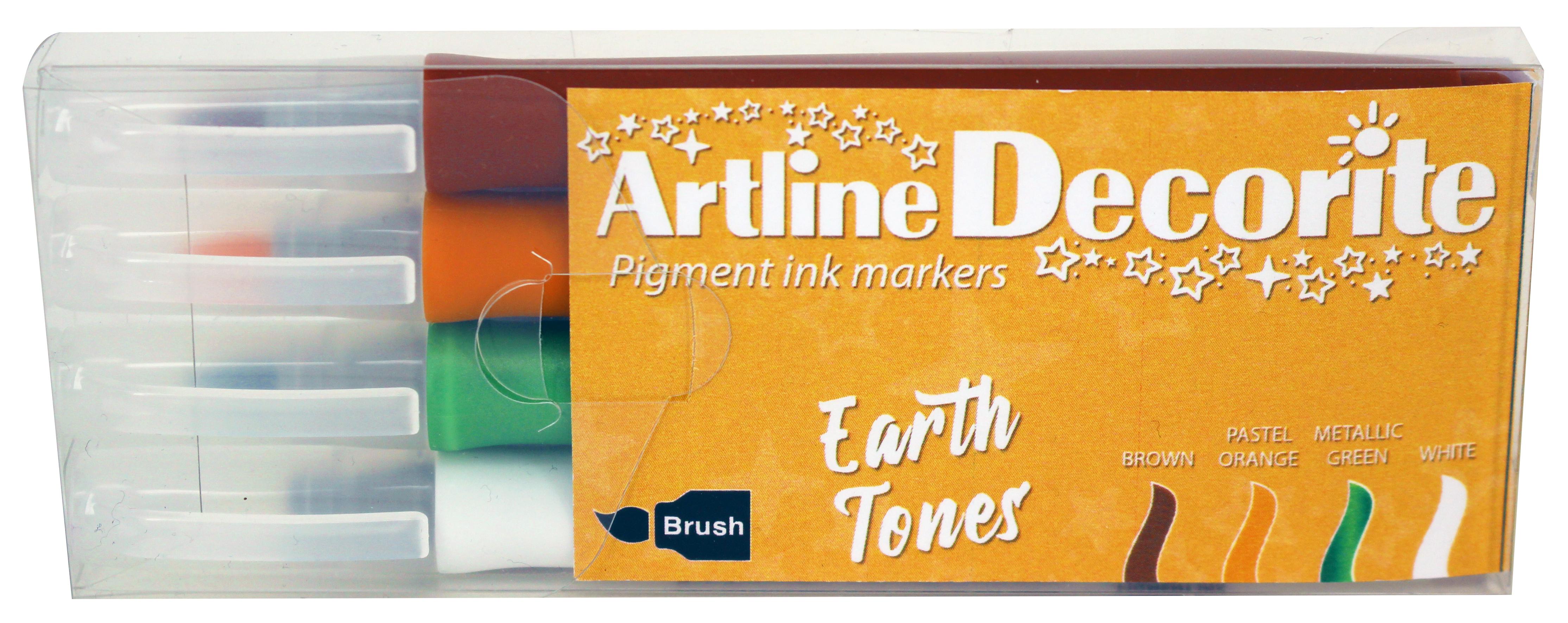 Artline Decorite Brush Earth 4-pk