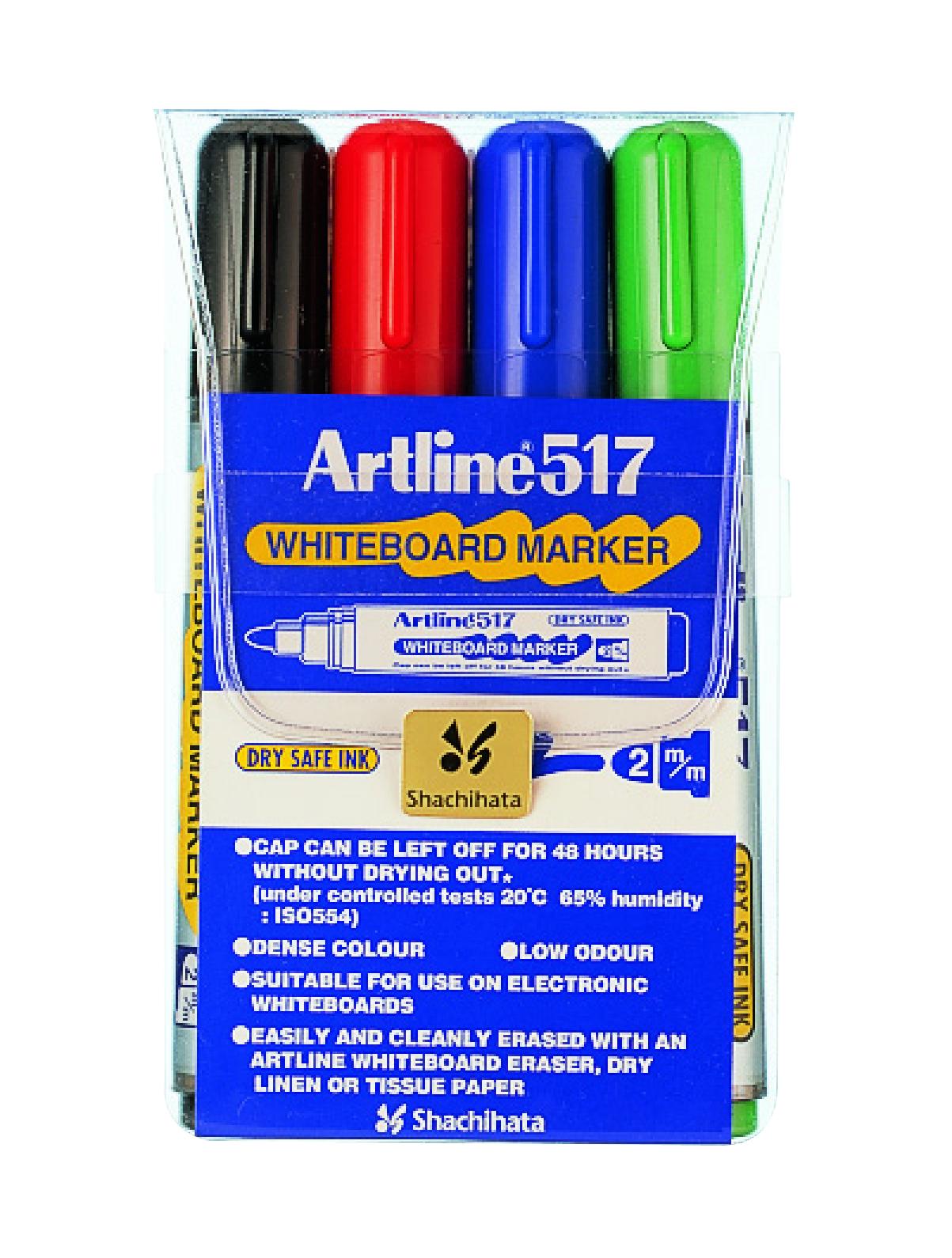 Artline 517 Whiteboardpenn 4/sett