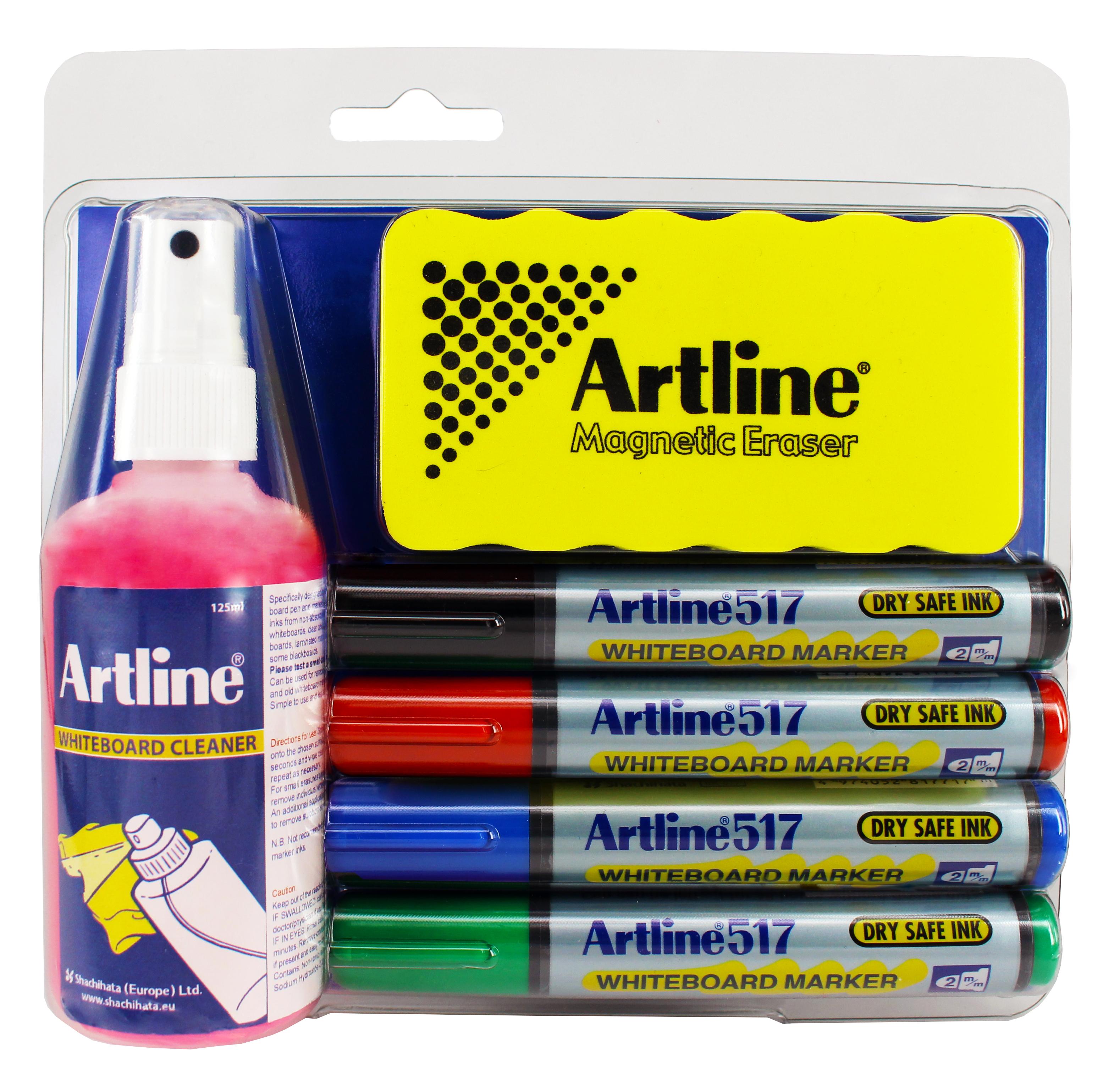 Artline Whiteboard Cleaner/Writing Kit