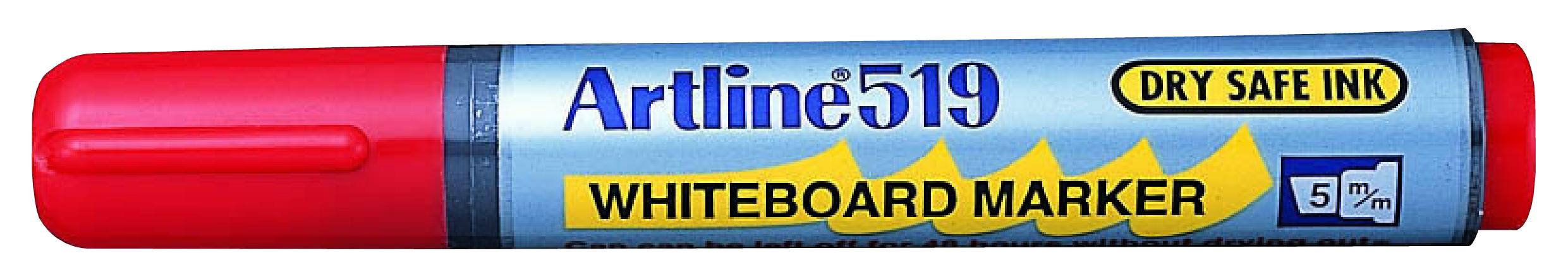 Artline 519 Whiteboardpenn rød