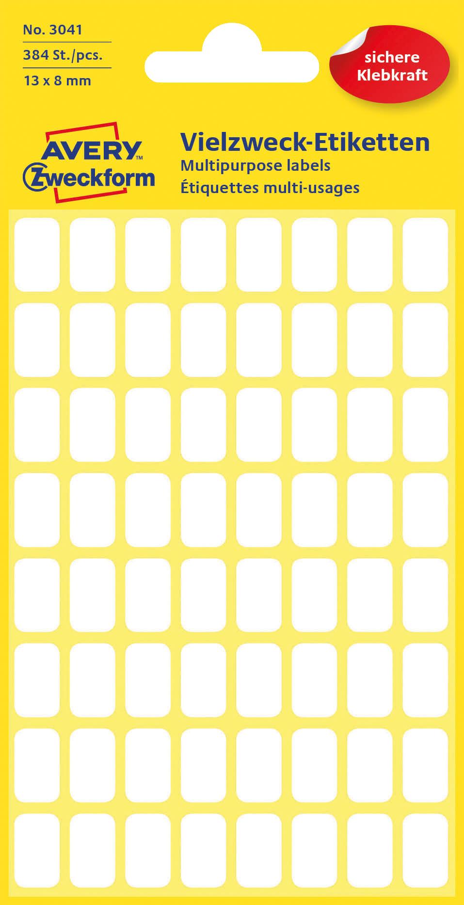 Avery 3041 Etiketter for håndskrift 8x13 (348)