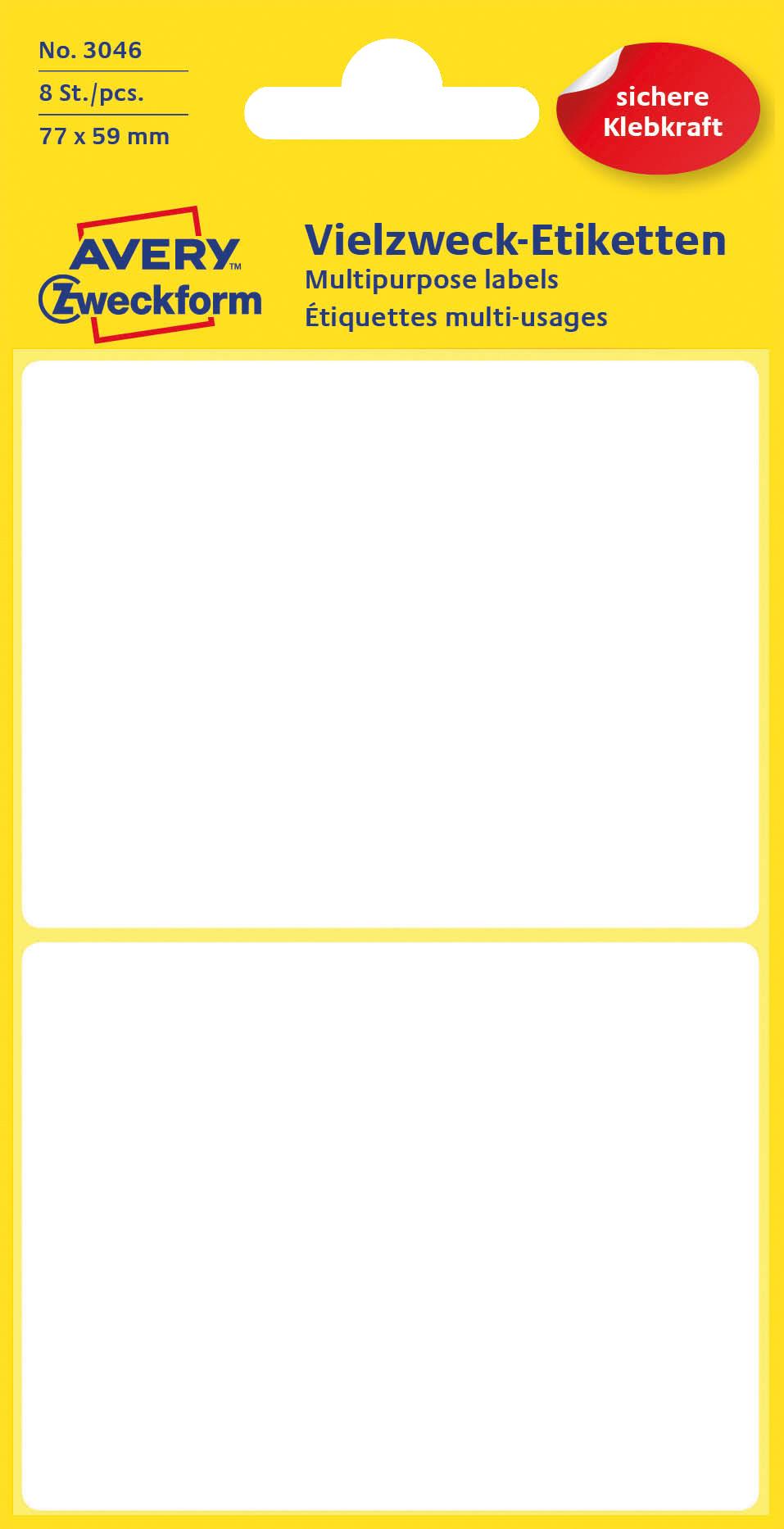 Avery 3046 Etiketter for håndskrift 77x59 (8)