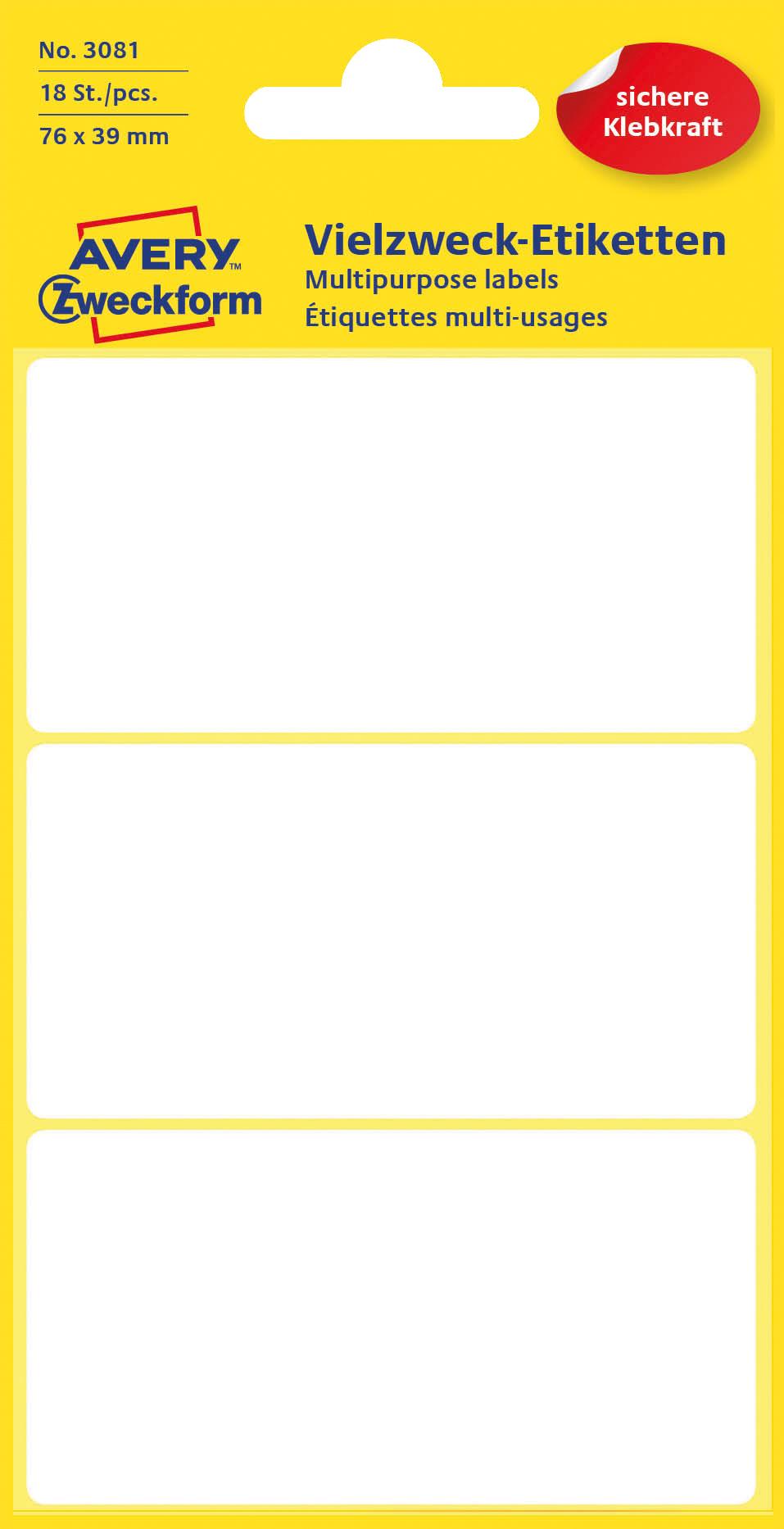 Avery 3081 Etiketter for håndskrift 76x39 (18)