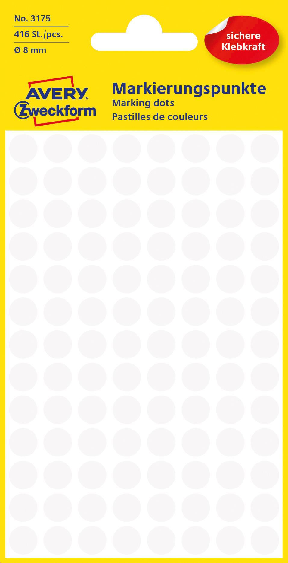 Avery 3041 Etiketter for håndskrift Ø 8 (416)