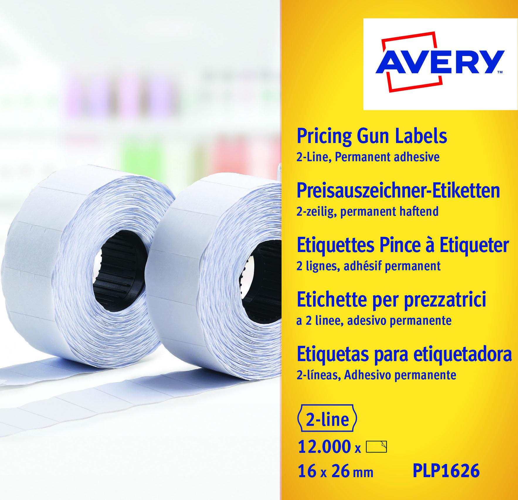 Etiketter til prismerker 26x16 G2 hvit 10 ruller