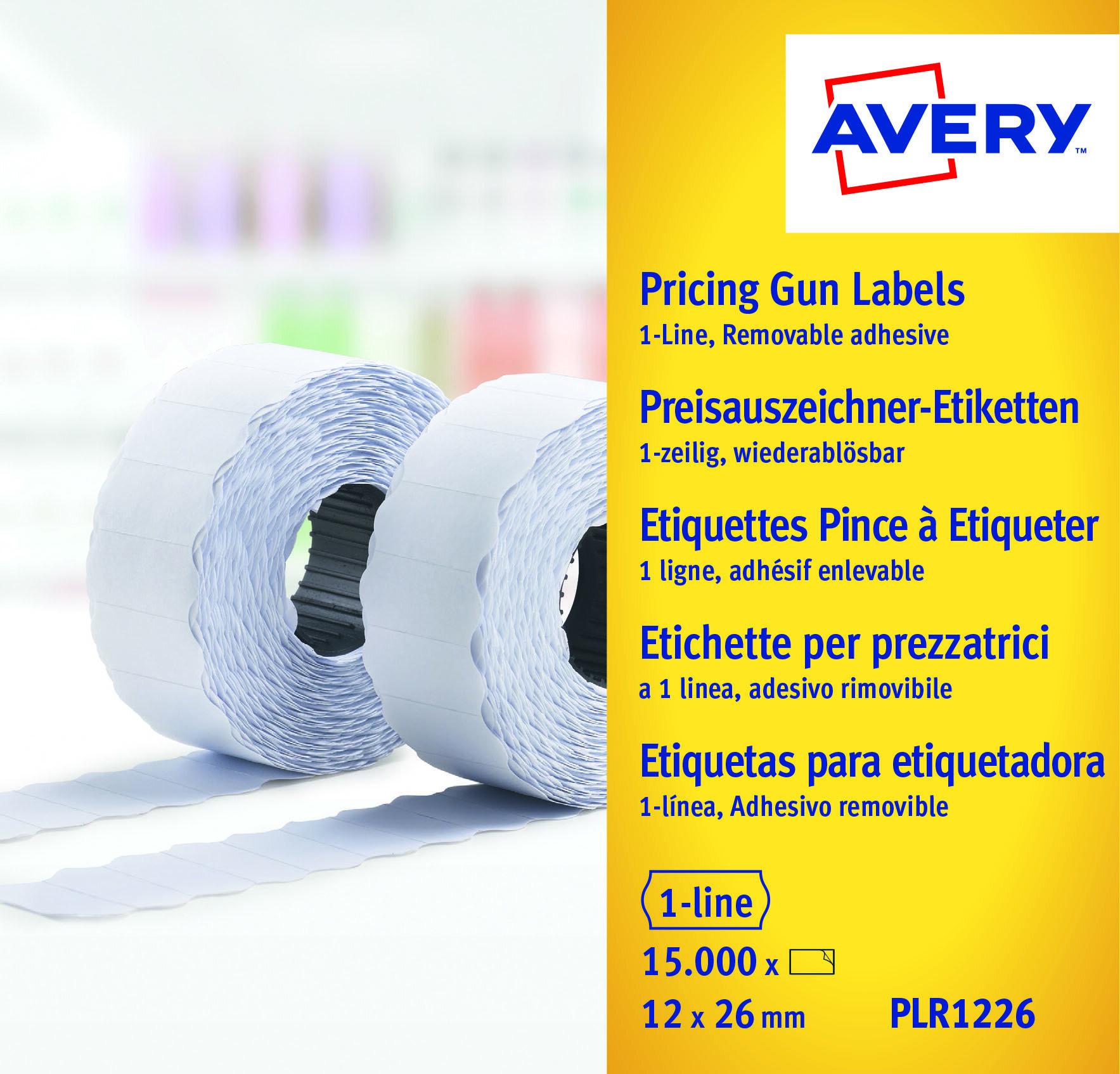 Etiketter til prismerker 26x12 G1 hvit 10 ruller
