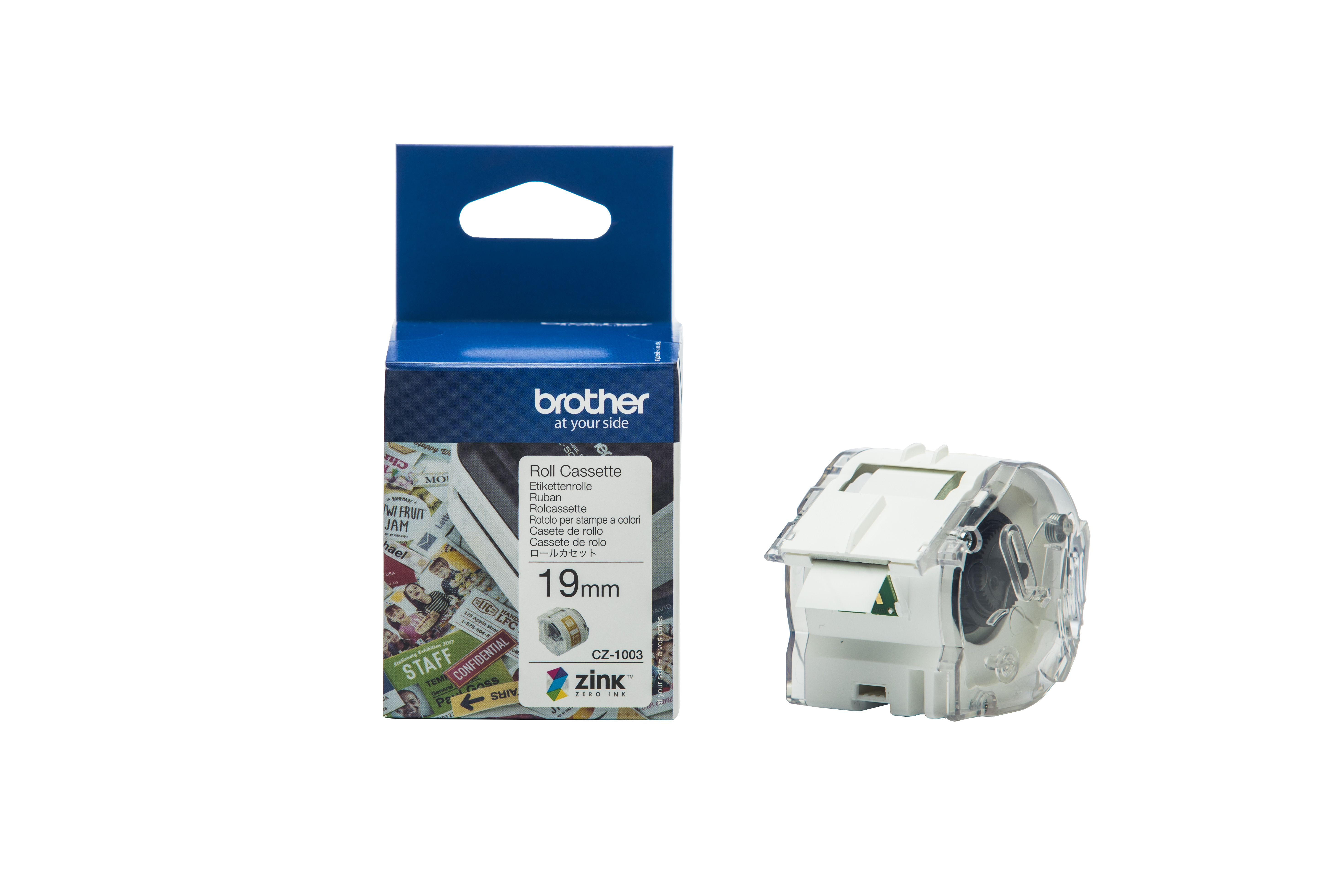 Brother CZ-1003 tape white 19mm x 5m