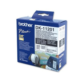 Brother Addresse etiketter 29x90mm Hvitt papir (400)