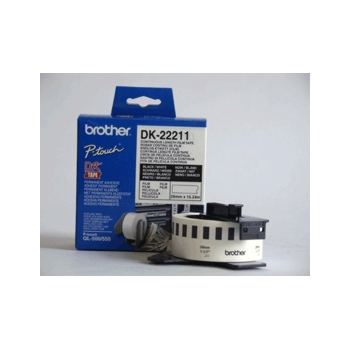 Brother Etiketter 29mmx15,24m hvit film