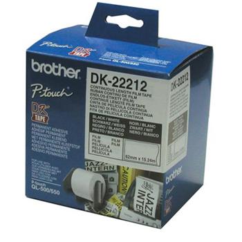 Brother Etiketter 62mmx15,24m hvit film