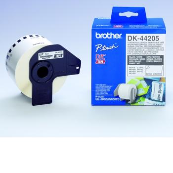 Brother Etiketter 62mmx30,48m Avtagbart hvitt papir