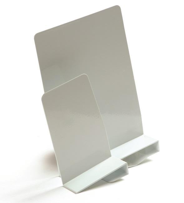 Büngers Bokstøtte Høyre Klemme 20cm metall  hvit