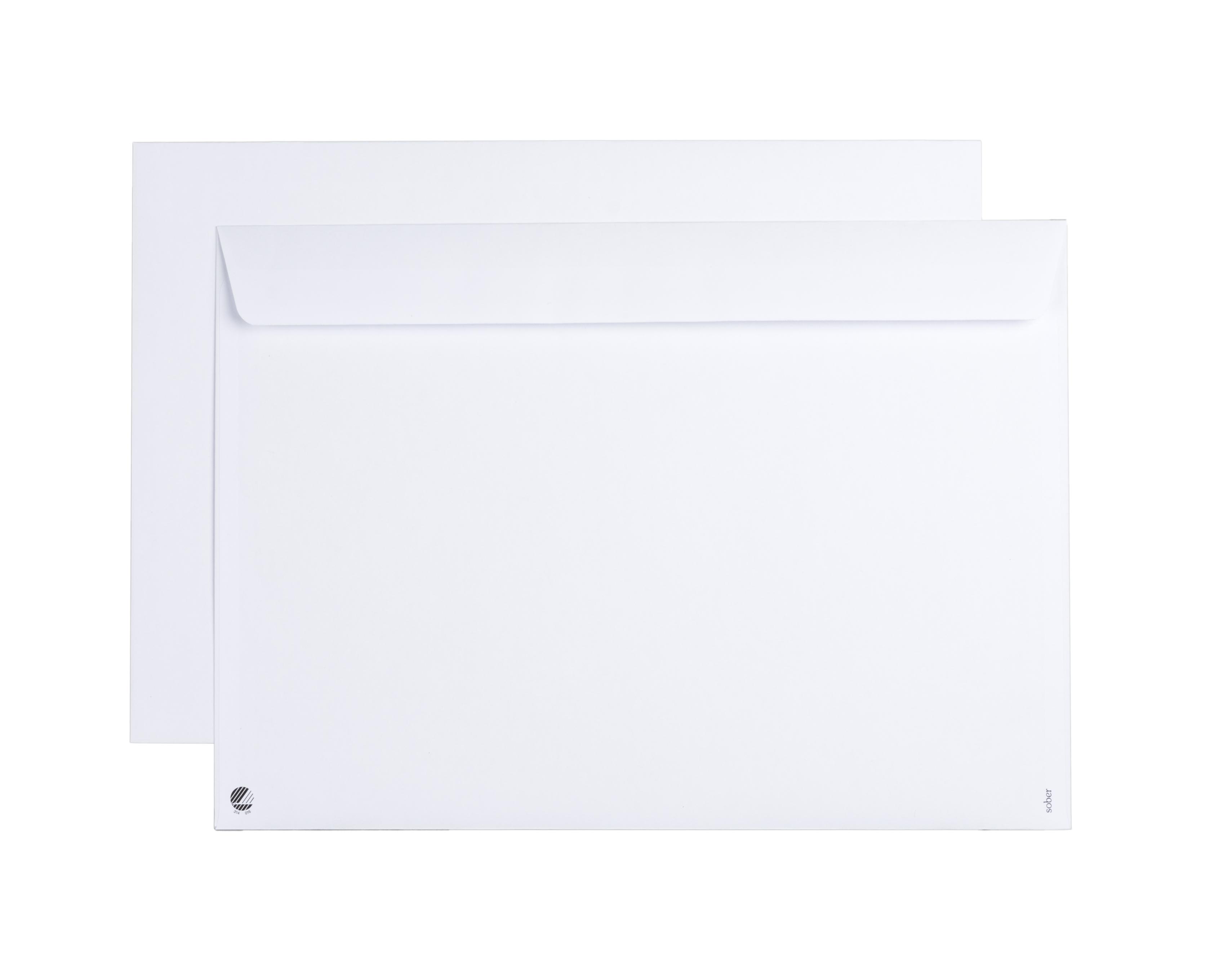 Envelope Sober C4 White 100g P&S (500)