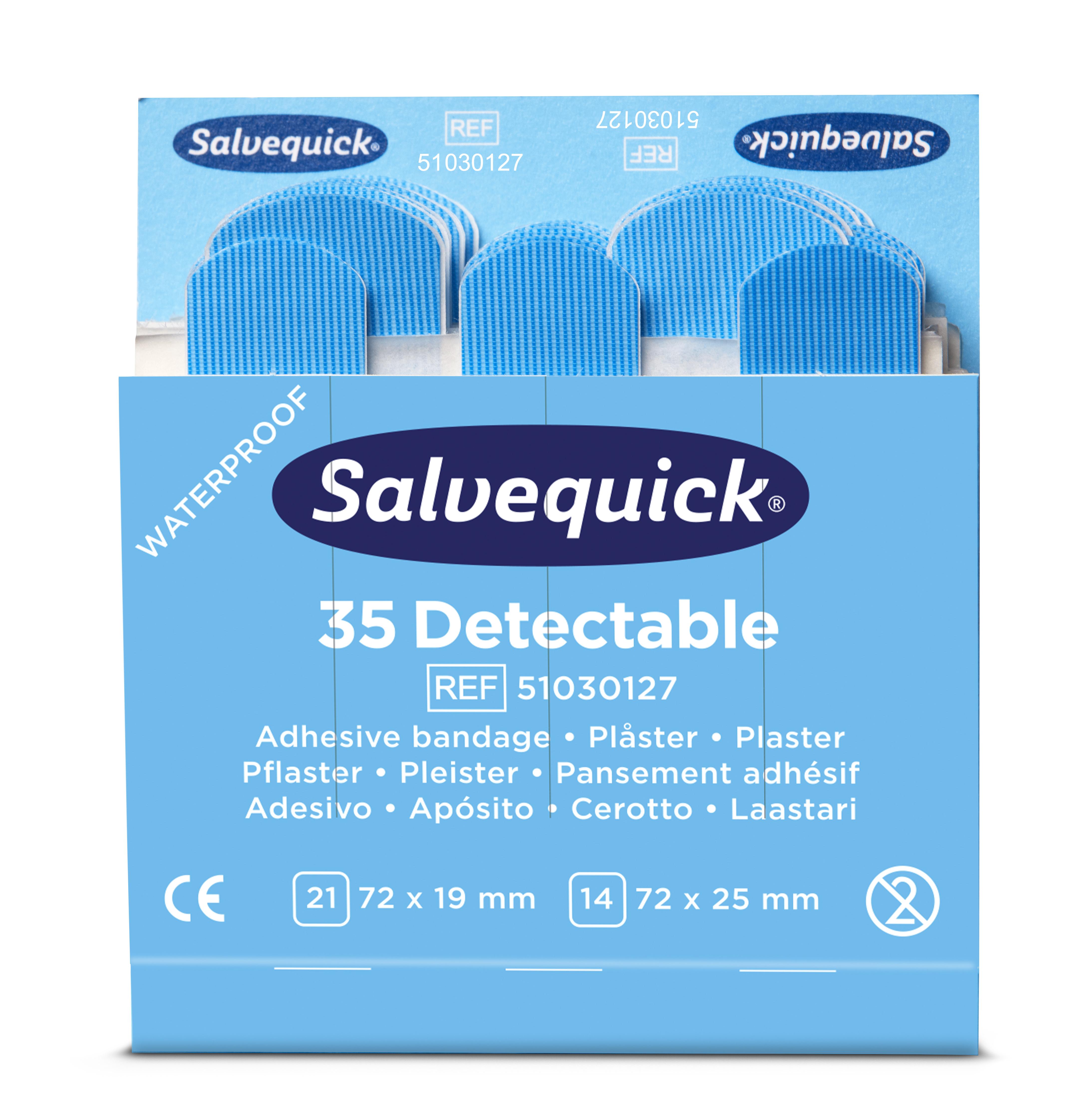 Cederroth Salvequick Blue Detectable Plaster 6ref/fp