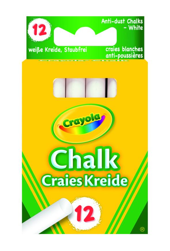 Crayola Kritt Antistøv Hvit (12)