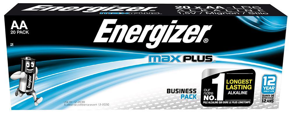 Energizer Batterier Max Plus AA/E91 (20-pk)