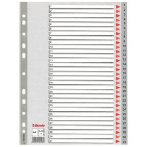 Esselte Register PP A4 1-31 grå