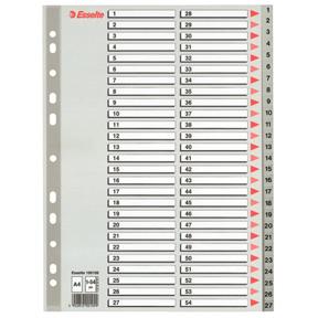 Esselte Register PP A4 1-54 grå