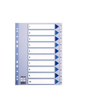 Esselte Register PP A4 1-10 hvit