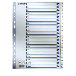 Esselte Register PP A4 A-Å hvit