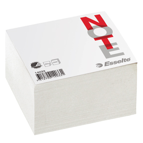 Esselte Notatblokk 10x10 cmUlinjert 500 ark.