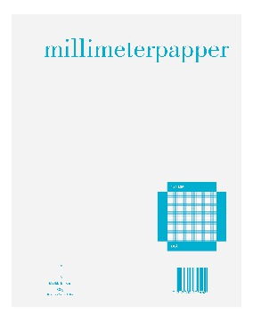 Esselte Millimeterrutet Papir A4 1x1mm 50 ark