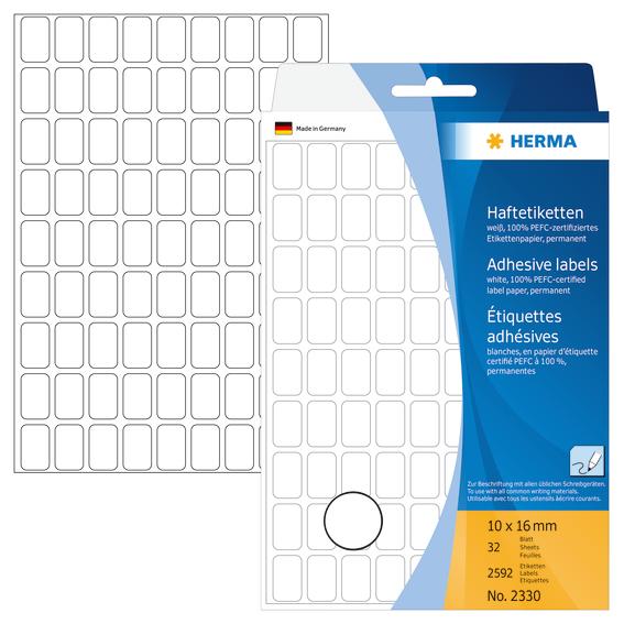 Herma Etikett 10x16 hvit