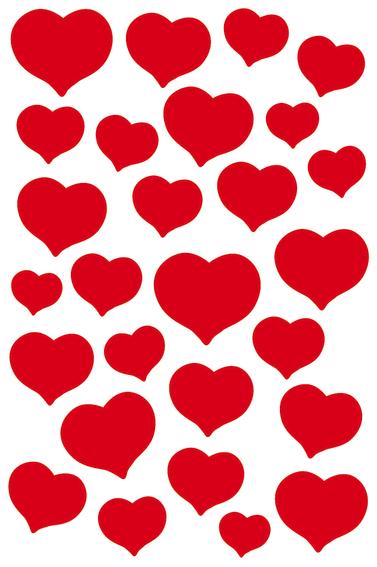 Herma Klistremerker Magic Røde hjerter