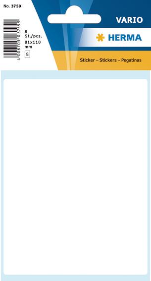 Herma Etiketter Vario hvit 81x100mm (8)
