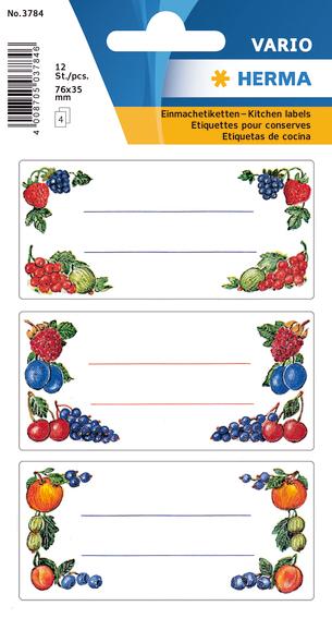 Herma Etikett Vario Kjøkken 76x35 Frukt