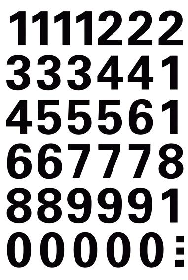 Herma Nummeretiketter Vario 0-9 15mm svart