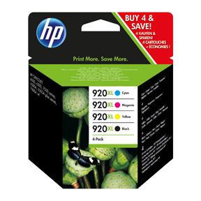 No920 XL CMYK ink cartridge, combo pack