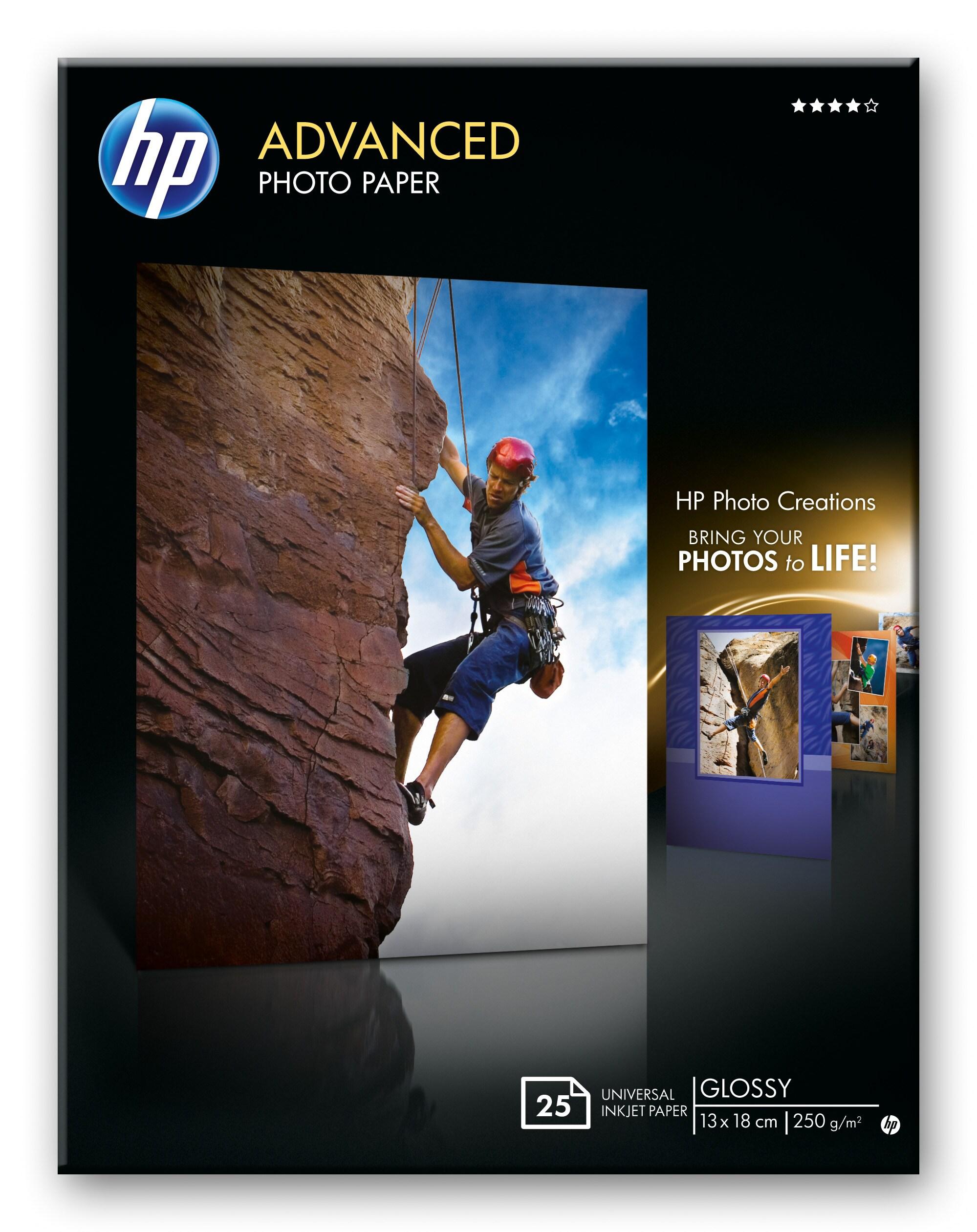 13x18 HP Advanced Glossy Photo 250 g/m² (25)