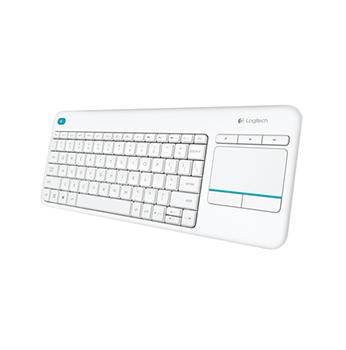 Logitech Wireless Touch Keyboard K400 Tastatur med touchpad Nordisk Svart