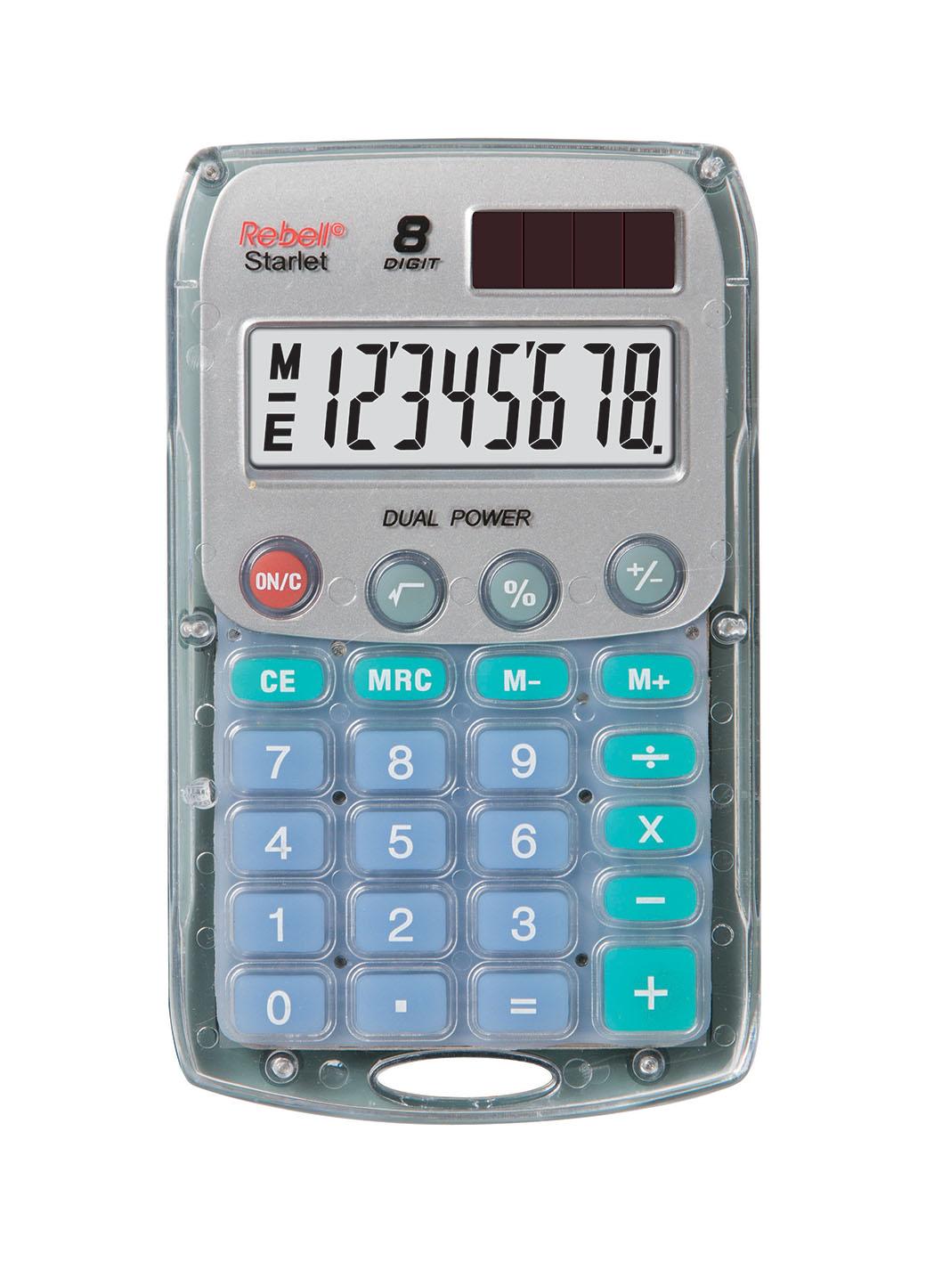 Rebell pocket calculator Starlet transparent
