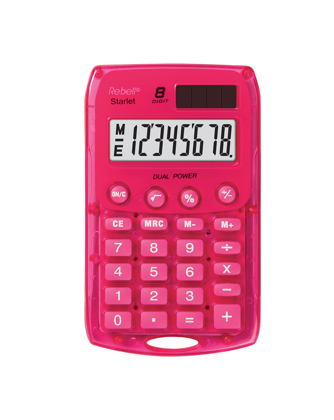 Rebell pocket calculator Starlet pink