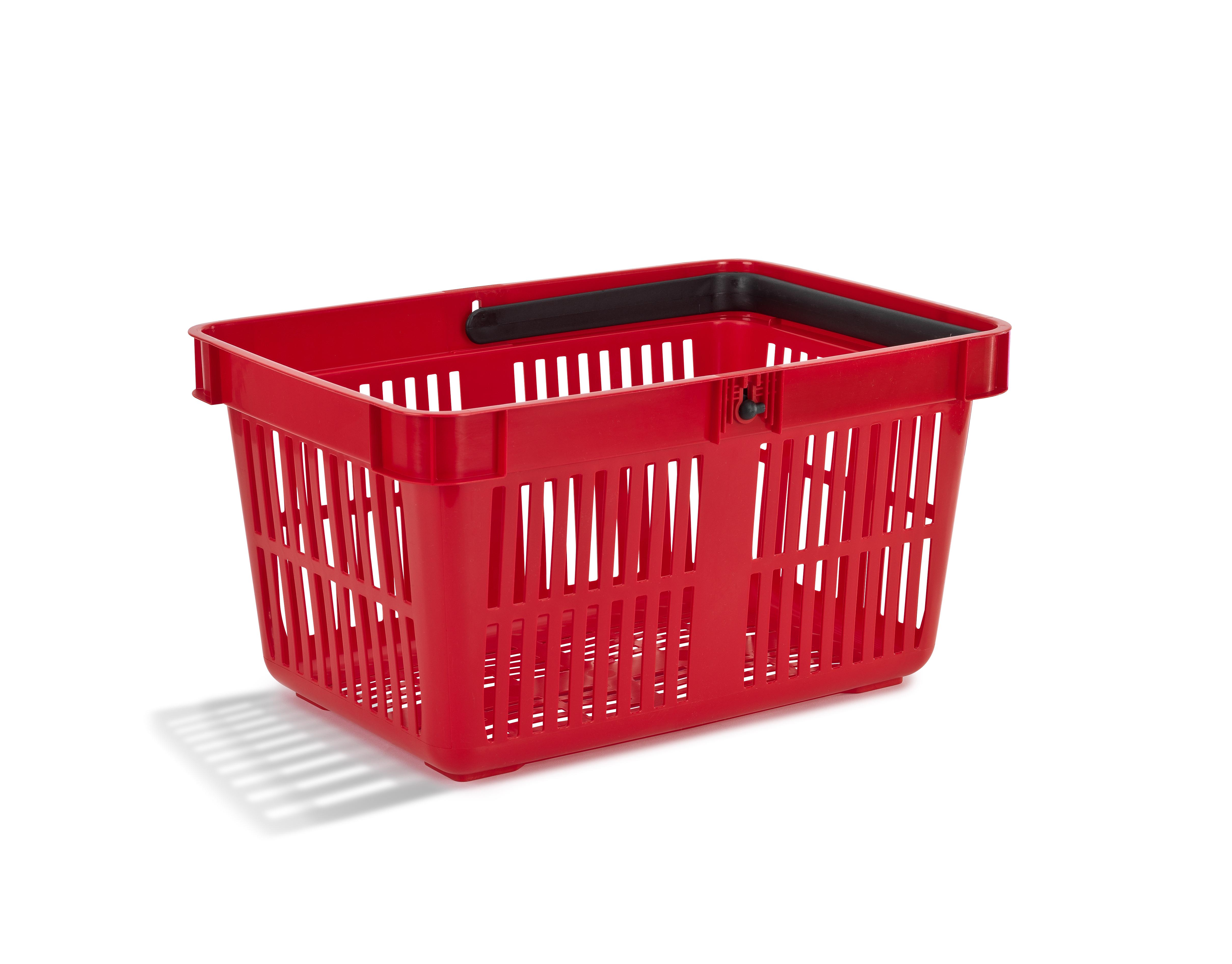 Nordiska Plast Handlekurv 27 liter rød